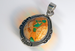 Sterling Silver / Cerrillos Turquoise Pendant