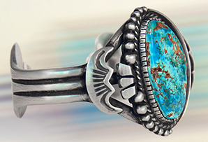 Sterling Silver / Cerrillos Turquoise Bracelet [UNAVAILABLE]