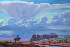 West Of Chinle, Pastels, 8 inches x 12 inches